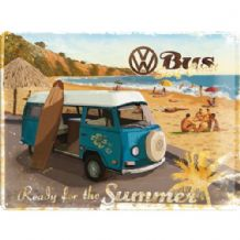VW Camper  'Ready for Summer' - 3D  Metal Wall Sign